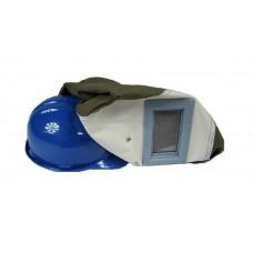 Ochranná maska s prilbou na pieskovanie
