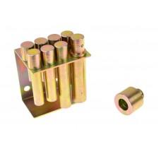 Adaptéry - kolíky do dielenského lisu, priemer 10 - 30 mm, sada 8 kusov