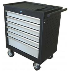 Dielenský vozík nevybavený, 6 zásuviek, postranné madlo - Quatros QS17061