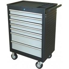 Dielenský vozík nevybavený, 7 zásuviek, postranné madlo - Quatros QS17071