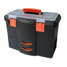 Kufor - basa na náradie 450 x 360 x 260 mm, 2 zásuvky, plast