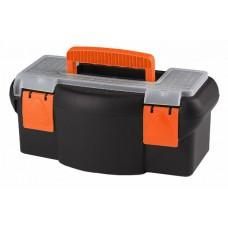 Plastový kufor na náradie 360 x 190 x 150 mm, s priehradkou a zásobníkom