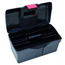 Plastový kufor na náradie 514 x 280 x 260 mm, 1 priehradka a 2 zásobníky