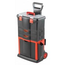 Kufor na náradie pojazdný, 460 x 330 x 730 mm, 2 zásuvky, ťažná rukoväť