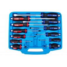Profi súprava úderových skrutkovačov, ploché a krížové, 12 kusov - Quatros QS14243