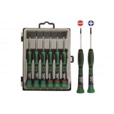 Sada mikroskrutkovačov, ploché a krížové, 6 kusov - JONNESWAY D3750P06S